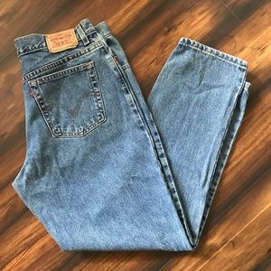 Levi's High Waist Tapered Leg 550 Jeans Size 16